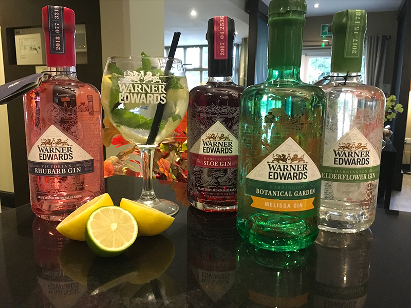 Gin Selection at The Inn at Woodhall Spa